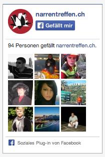 Stand Facebook likes: 94 Personen per 16.12.